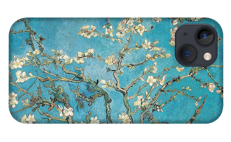Van iPhone 13 Case featuring the painting Almond branches in bloom by Vincent van Gogh