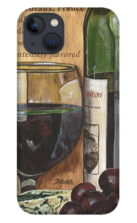 Cabernet iPhone 13 Case featuring the painting Cabernet Sauvignon by Debbie DeWitt