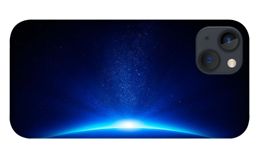 Earth iPhone 13 Case featuring the photograph Earth sunrise in space by Johan Swanepoel