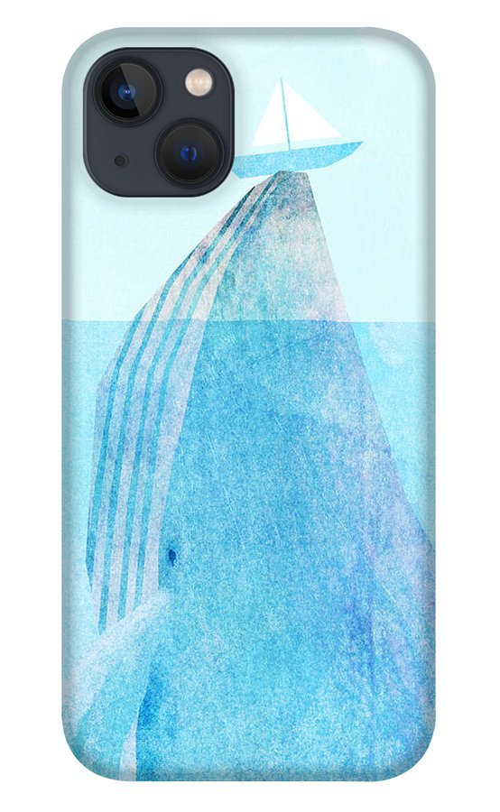 Whale iPhone 13 Case featuring the drawing Lift by Eric Fan