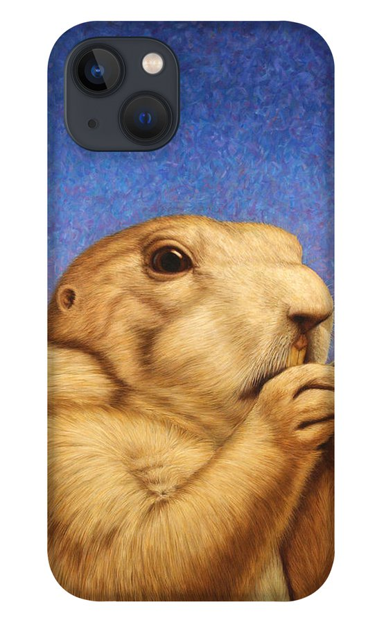 Prairie Dog iPhone 13 Case featuring the painting Prairie Dog by James W Johnson