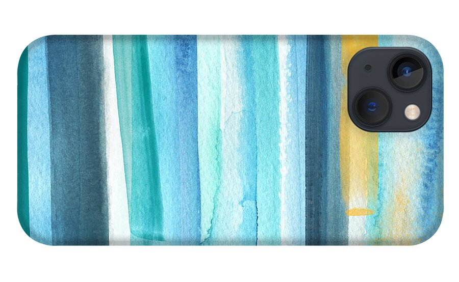 Water iPhone 13 Case featuring the painting Summer Surf- Abstract Painting by Linda Woods