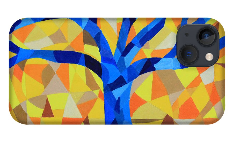 Tree iPhone Case featuring the painting No. 6 A Patched Tree by Paul Anderson