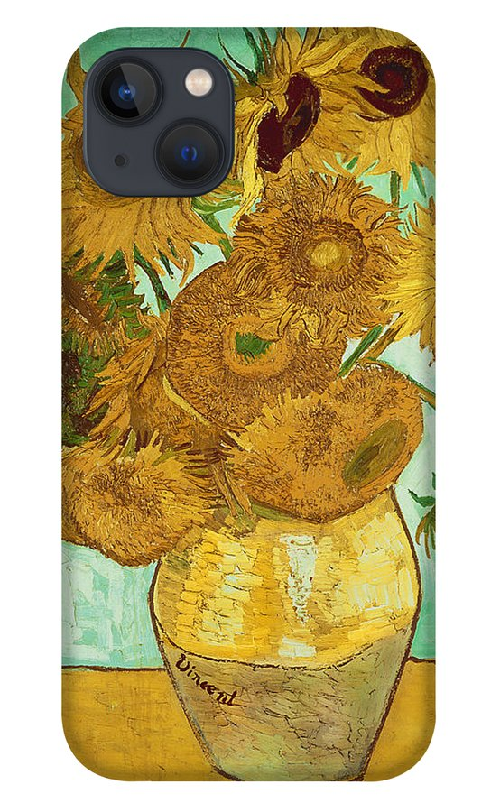 Sunflowers iPhone 13 Case featuring the painting Sunflowers by Van Gogh by Vincent Van Gogh