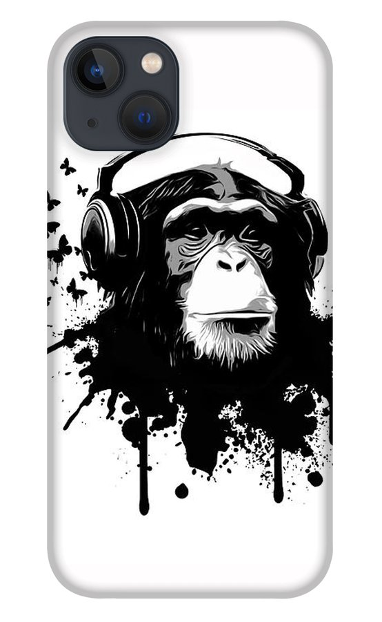 Ape iPhone 13 Case featuring the digital art Monkey Business by Nicklas Gustafsson