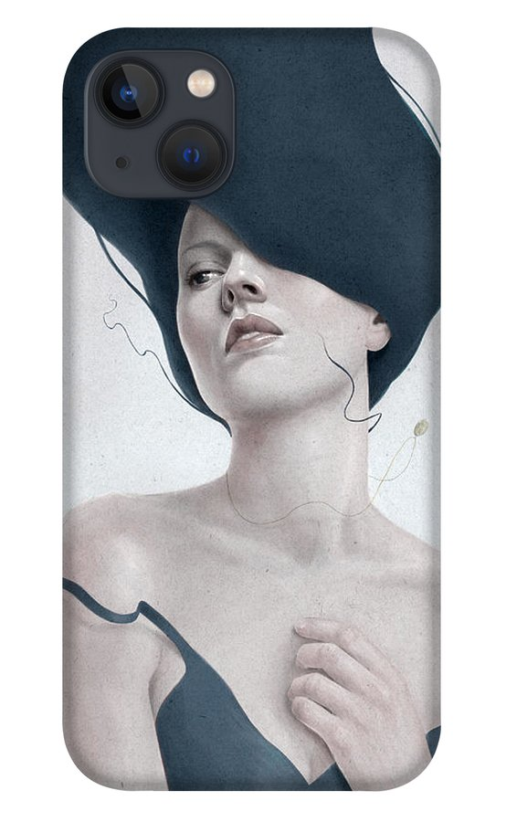 Woman iPhone 13 Case featuring the digital art Ascension by Diego Fernandez