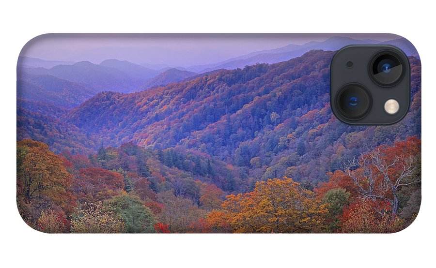 00175805 iPhone 13 Case featuring the photograph Autumn Deciduous Forest Great Smoky by Tim Fitzharris