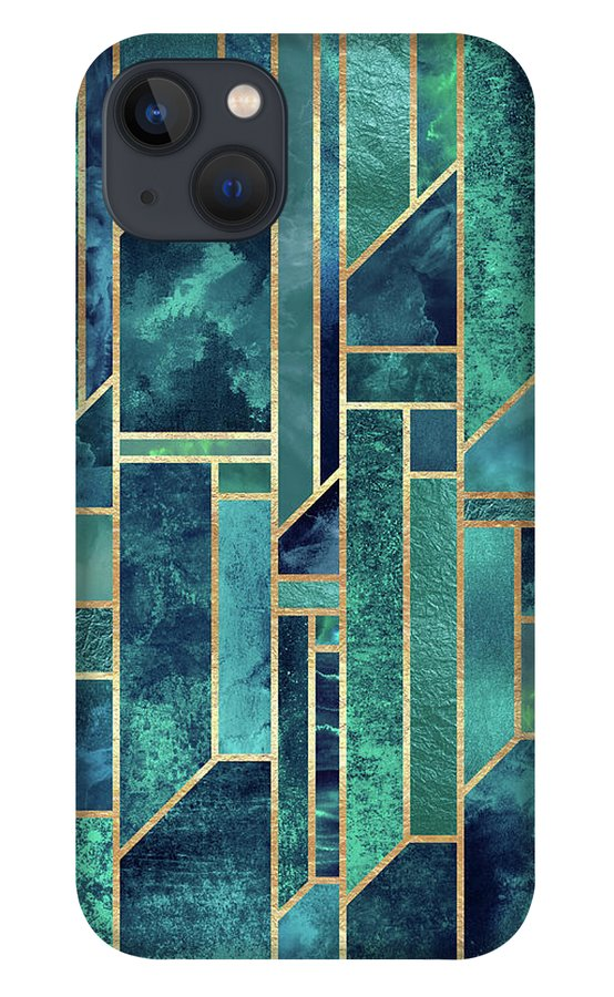 Graphic iPhone 13 Case featuring the digital art Blue Skies by Elisabeth Fredriksson