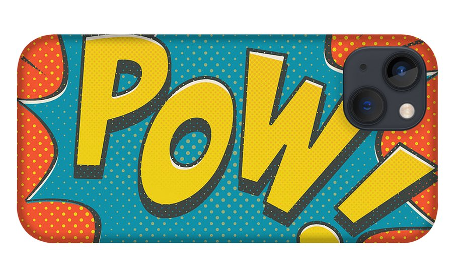 Comic iPhone 13 Case featuring the digital art Comic Pow by Mitch Frey