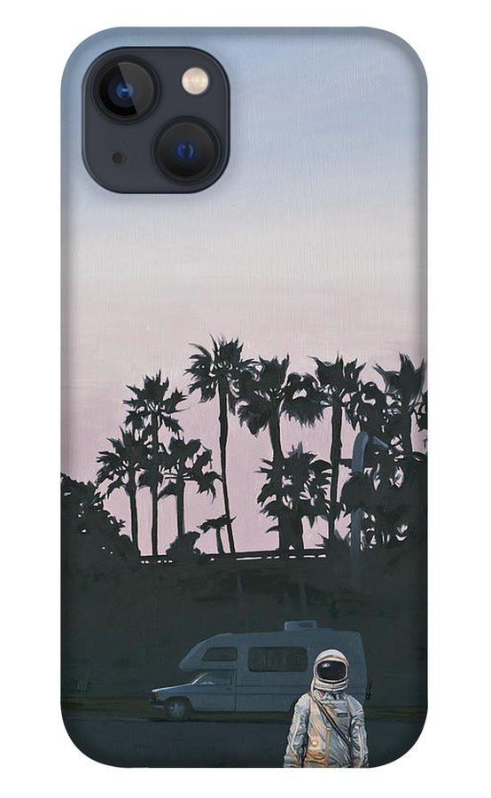 Astronaut iPhone 13 Case featuring the painting RV Dusk by Scott Listfield