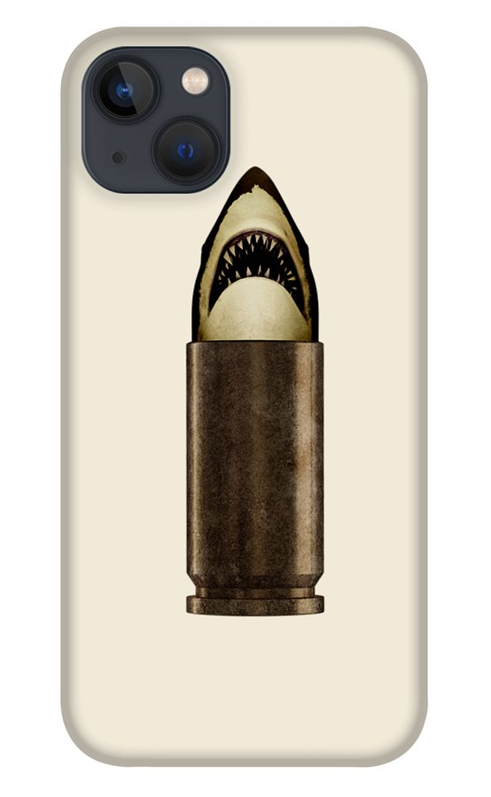 Bullet iPhone 13 Case featuring the digital art Shell Shark by Nicholas Ely