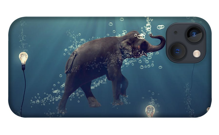 Elephant iPhone 13 Case featuring the photograph The dreamer by Martine Roch