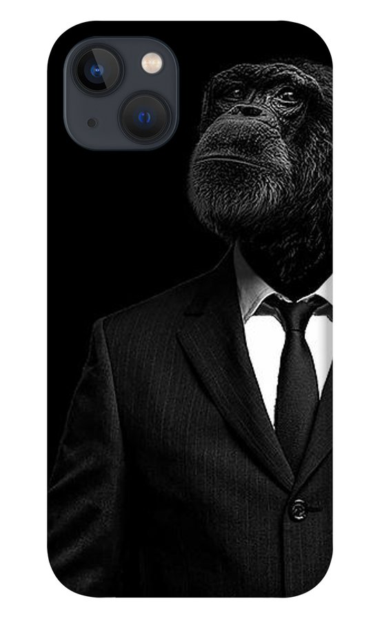 Chimpanzee iPhone 13 Case featuring the photograph The interview by Paul Neville