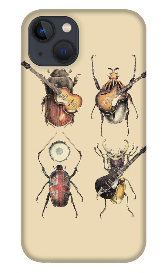 Beatles iPhone 13 Case featuring the digital art Meet the Beetles by Eric Fan