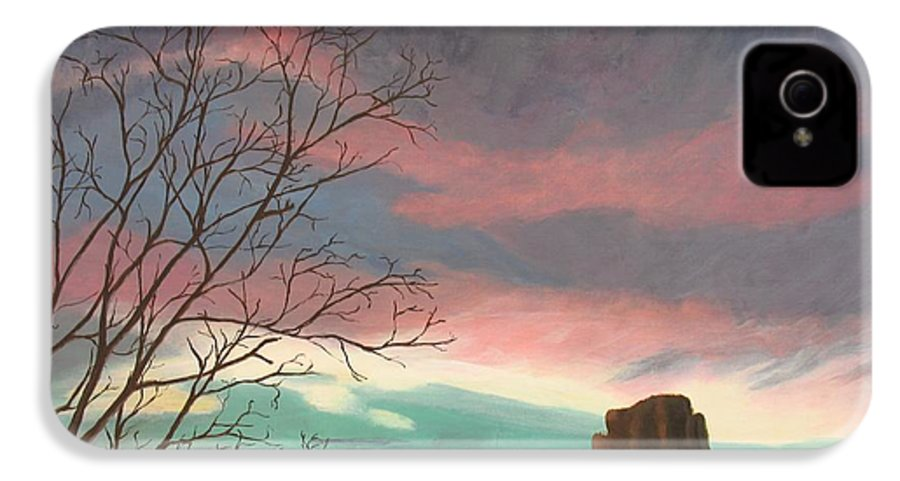 Sedona IPhone 4 Case featuring the painting Jewels In The Sky by Janis Mock-Jones