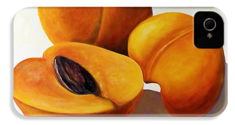 Apricots IPhone 4 Case featuring the painting Apricots by Shannon Grissom