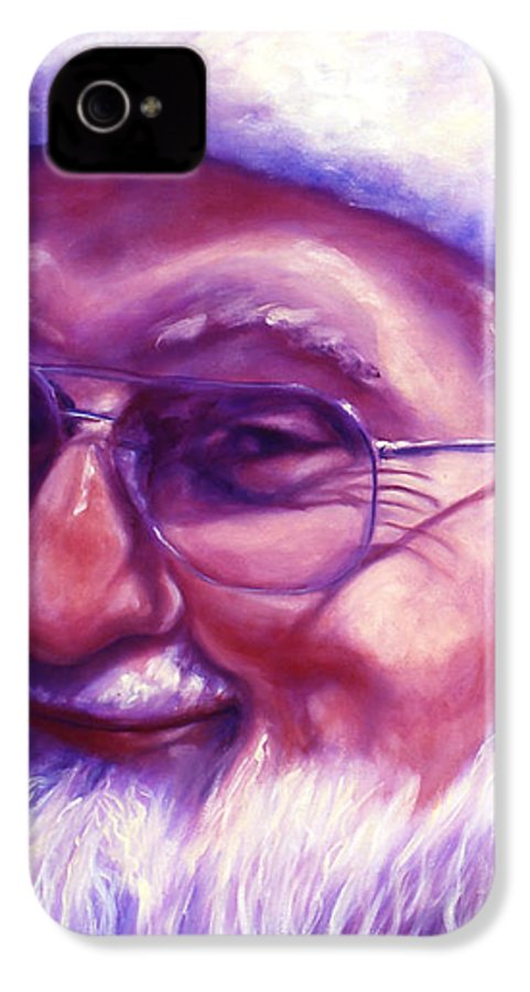 Portrait IPhone 4 Case featuring the painting Are You Sure You Have Been Nice by Shannon Grissom