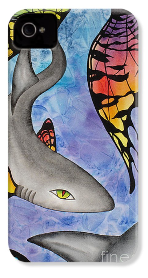 Surreal IPhone 4 Case featuring the painting Beauty In The Beasts by Lucy Arnold