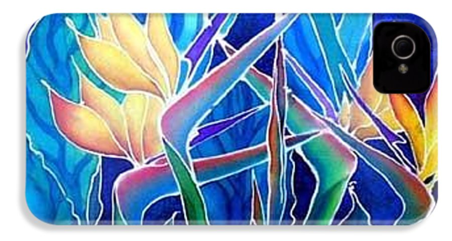 Silks IPhone 4 Case featuring the painting Birds Of Paradise by Francine Dufour Jones