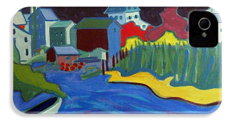 Essex River IPhone 4 Case featuring the painting Essex River by Debra Bretton Robinson