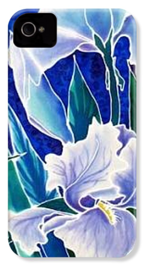 Iris IPhone 4 Case featuring the painting Iris by Francine Dufour Jones