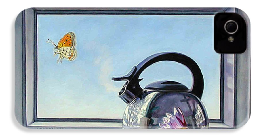 Steam Coming Out Of A Kettle IPhone 4 Case featuring the painting Life Is A Vapor by John Lautermilch