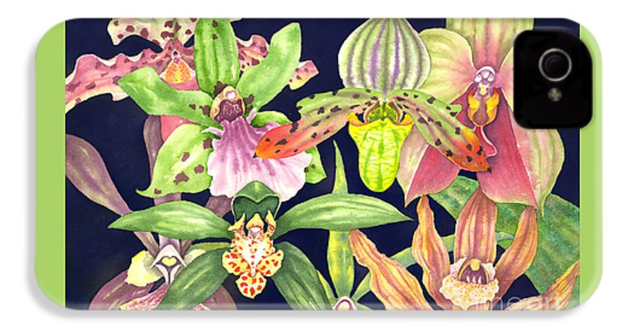 Orchids IPhone 4 Case featuring the painting Orchids by Lucy Arnold