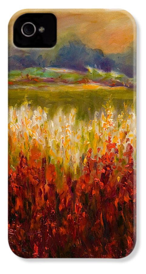 Landscape IPhone 4 Case featuring the painting Santa Rosa Valley by Shannon Grissom