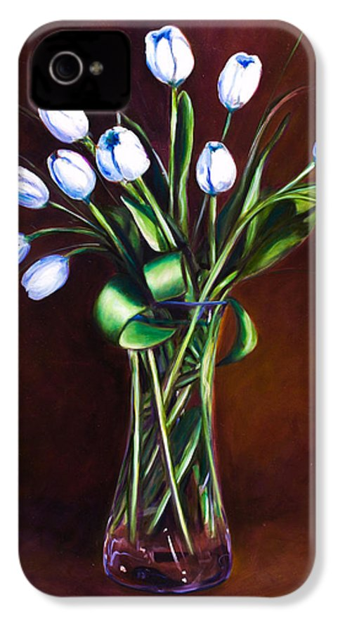 Shannon Grissom IPhone 4 Case featuring the painting Simply Tulips by Shannon Grissom