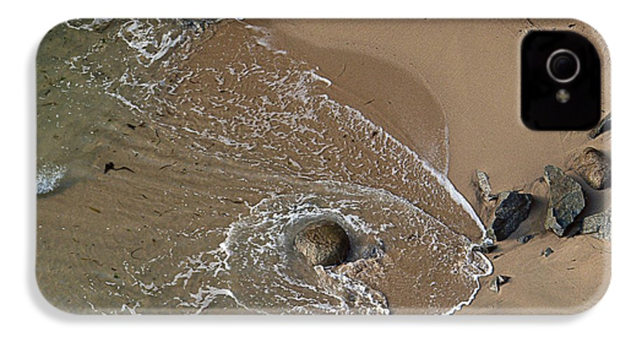 Big Sur IPhone 4 Case featuring the photograph Swirling Surf And Rocks by Charlene Mitchell