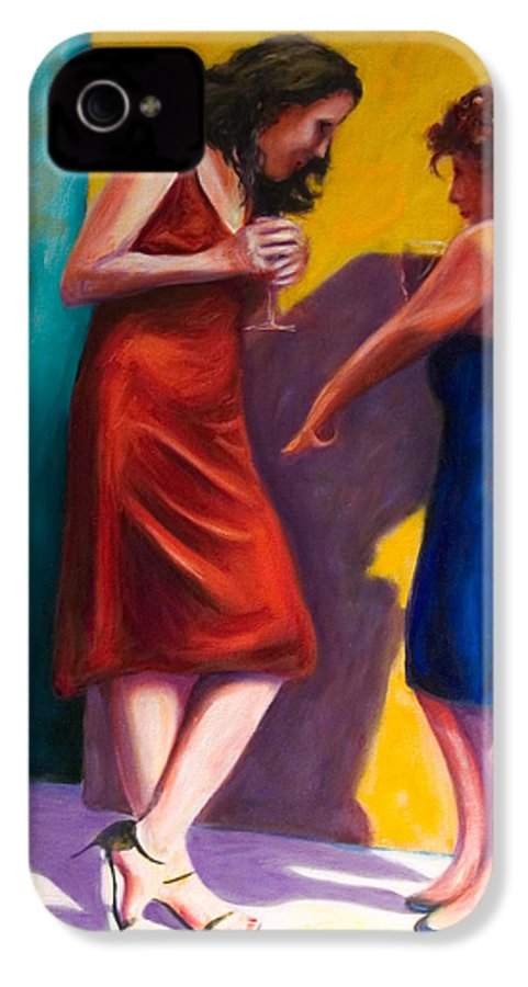 Figurative IPhone 4 Case featuring the painting There by Shannon Grissom