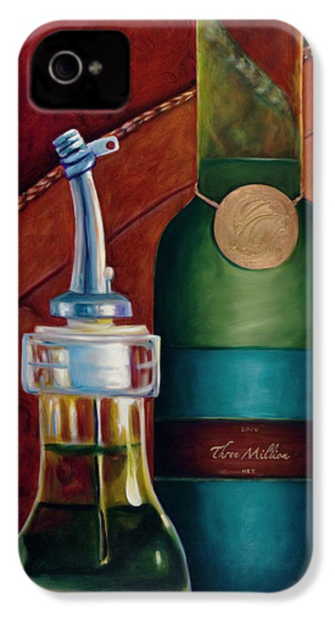 Olive Oil IPhone 4 Case featuring the painting Three Million Net by Shannon Grissom