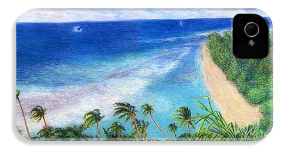 Rainbow Colors Pastel IPhone 4 Case featuring the painting Windblown by Kenneth Grzesik