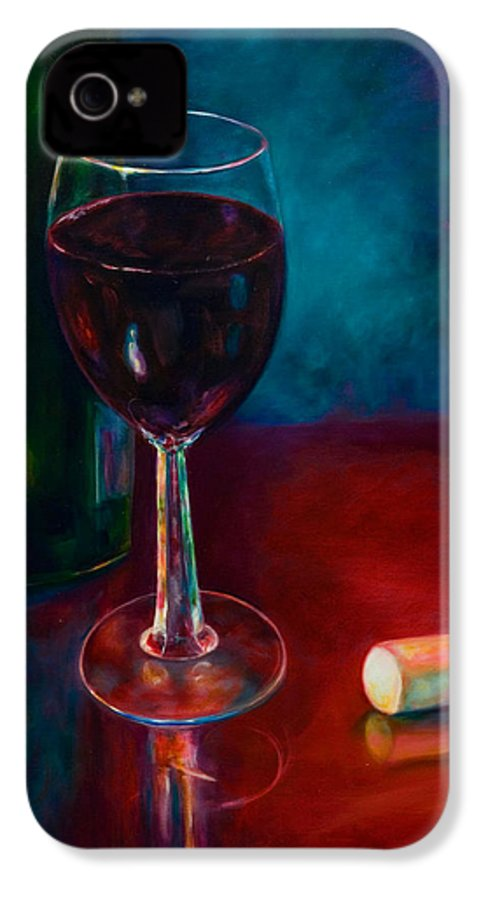 Wine Bottle IPhone 4 Case featuring the painting Zinfandel by Shannon Grissom
