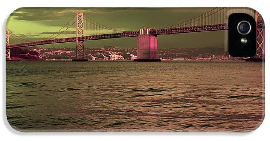 San Francisco IPhone 5 Case featuring the photograph Bay Bridge, San Francisco by Aidan Moran