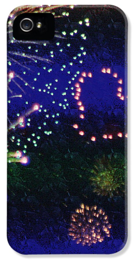 Fireworks IPhone 5 Case featuring the photograph My 4th Of July by Janie Johnson