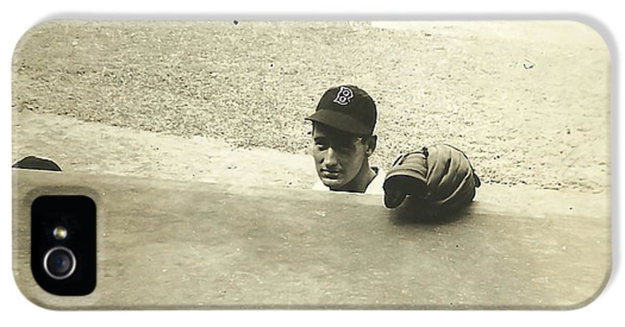 Ted Williams IPhone 5 Case featuring the photograph Ted Williams by Diane Diederich