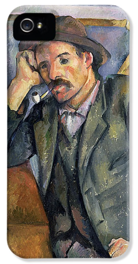 Pipe IPhone 5 Case featuring the painting The Smoker by Paul Cezanne