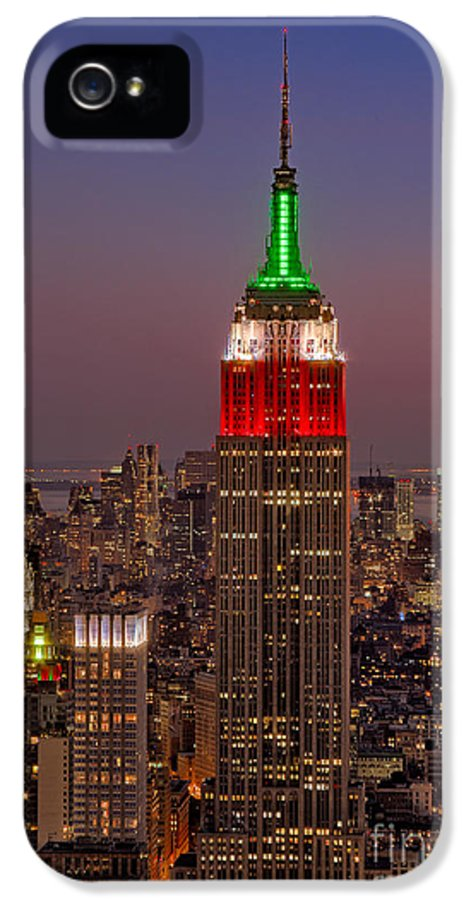 Empire State Building IPhone 5 Case featuring the photograph Top Of The Rock by Susan Candelario