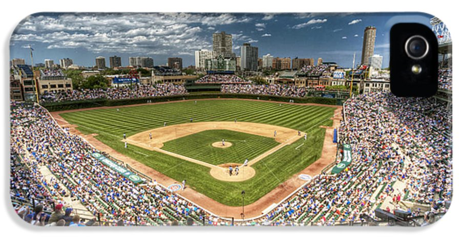 Wrigley IPhone 5 Case featuring the photograph 0234 Wrigley Field by Steve Sturgill