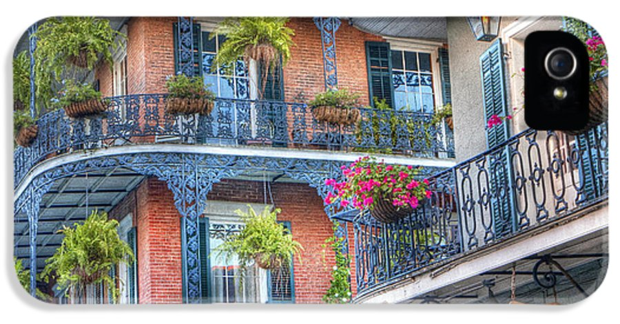 Balcony IPhone 5 Case featuring the photograph 0255 Balconies - New Orleans by Steve Sturgill