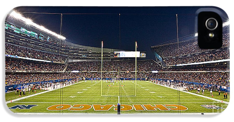 Chicago IPhone 5 Case featuring the photograph 0587 Soldier Field Chicago by Steve Sturgill