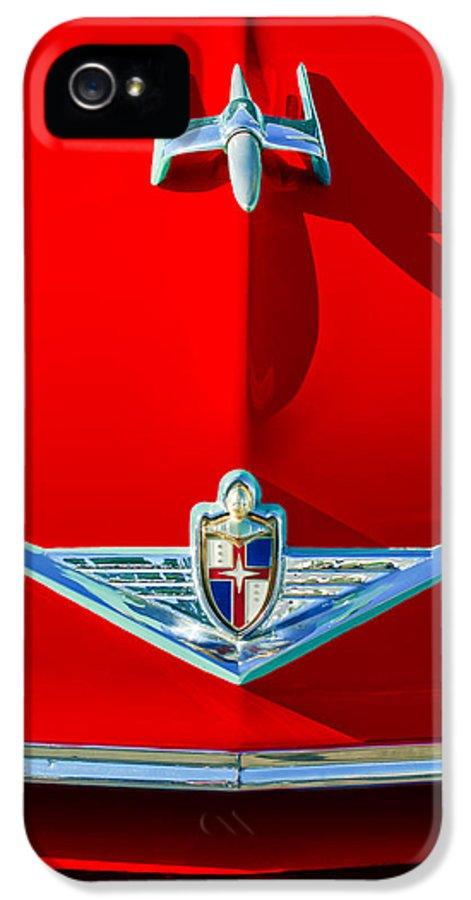1954 Lincoln Capri Hood Ornament IPhone 5 Case featuring the photograph 1954 Lincoln Capri Hood Ornament by Jill Reger