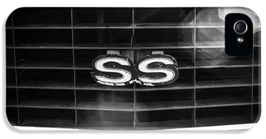 1969 Chevrolet Camaro Rs-ss Indy Pace Car Replica Grille Emblem IPhone 5 Case featuring the photograph 1969 Chevrolet Camaro Rs-ss Indy Pace Car Replica Grille Emblem by Jill Reger