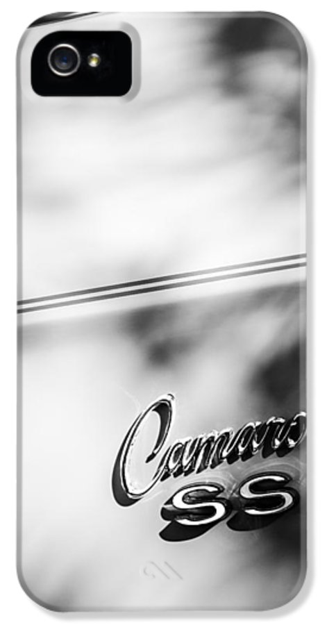 1969 Chevrolet Camaro Rs-ss Indy Pace Car Replica Side Emblem IPhone 5 / 5s Case featuring the photograph 1969 Chevrolet Camaro Rs-ss Indy Pace Car Replica Side Emblem by Jill Reger