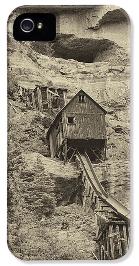 Abandoned IPhone 5 Case featuring the photograph Abandoned Mine by Melany Sarafis