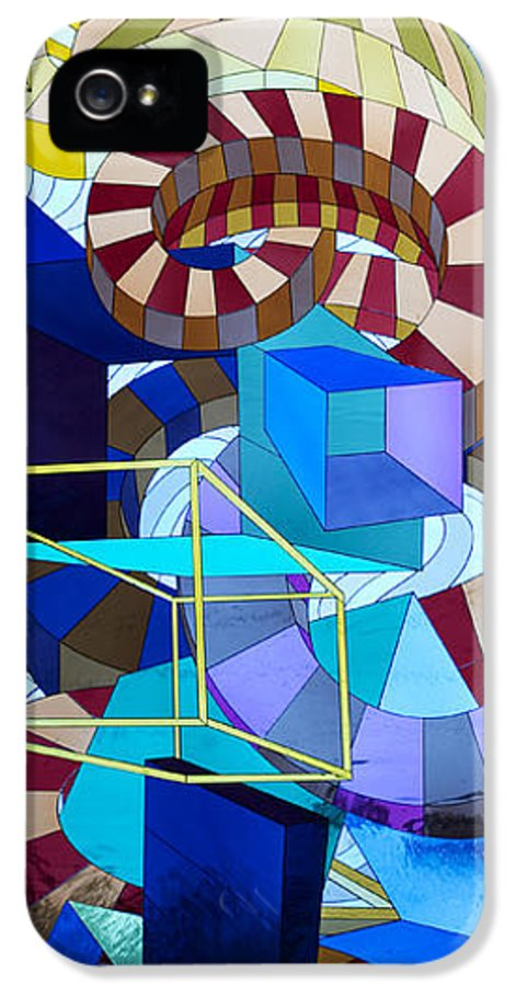 Courthouse IPhone 5 Case featuring the glass art Abstract Art Stained Glass by Mountain Dreams