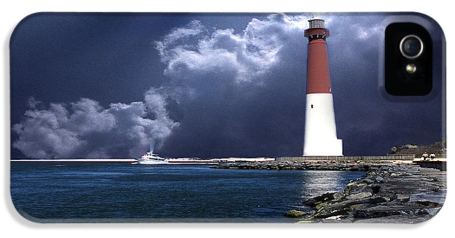 Lighthouses IPhone 5 Case featuring the photograph Barnegat Inlet Lighthouse Nj by Skip Willits