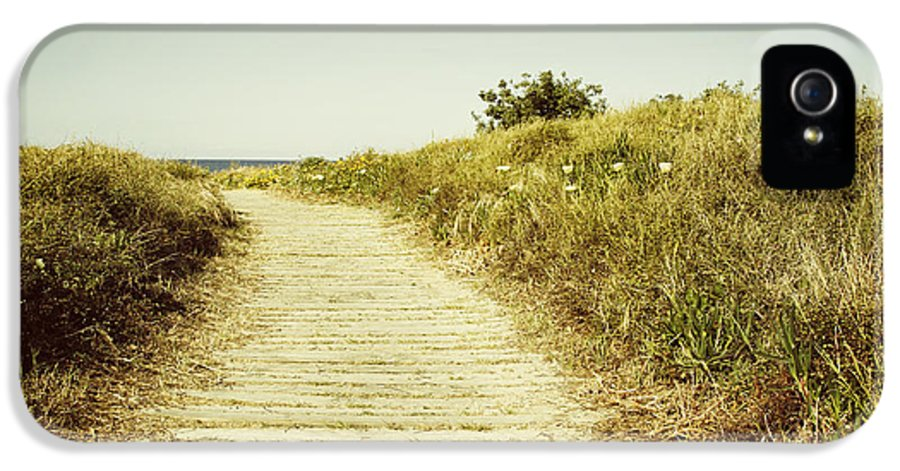 Beach IPhone 5 Case featuring the photograph Beach Trail by Les Cunliffe