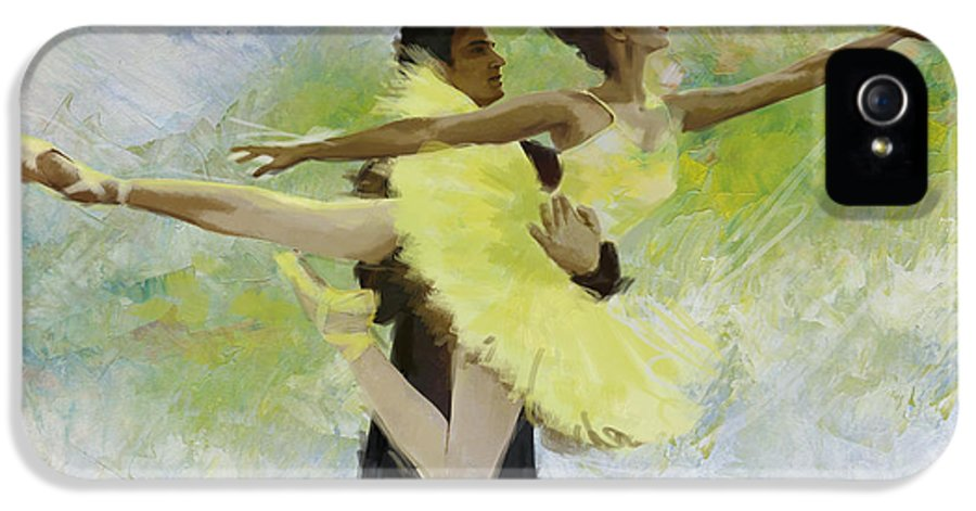 Ballet Dancer IPhone 5 Case featuring the painting Belly Dancers by Corporate Art Task Force